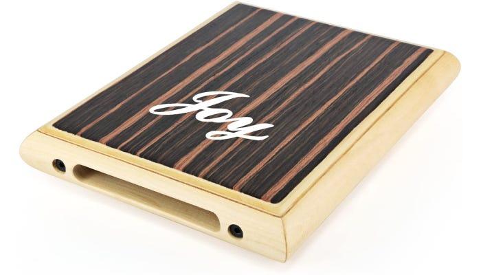 slim wooden Cajon drum shaped like a thin pad.