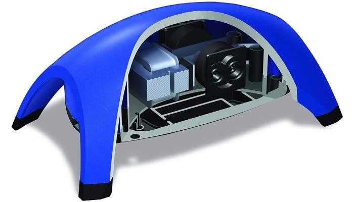 Blue dome-like air pump for aquarium