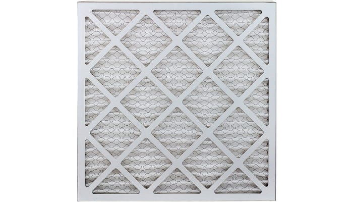 White air filter with lattice-patterned construction