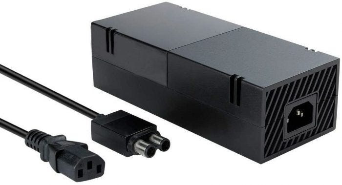 An upgraded power brick for Xbox One made of high-grade materials