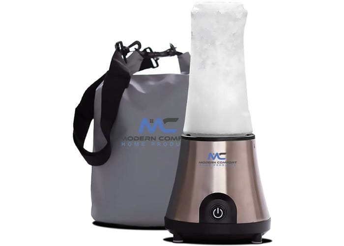 small, cordless blender with a carrying bag