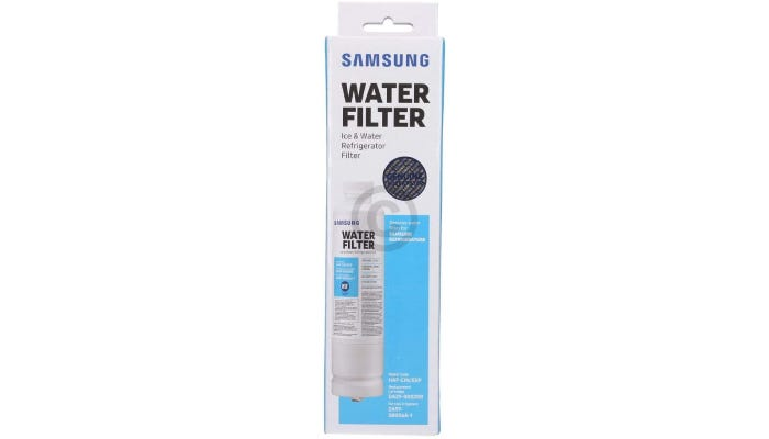 Water filter in its package