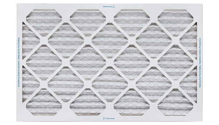 White filter with lattice-patterned design
