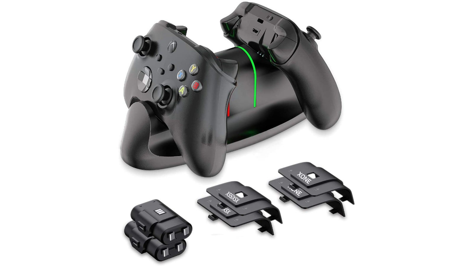 This charging station is compatible with all Xbox controllers