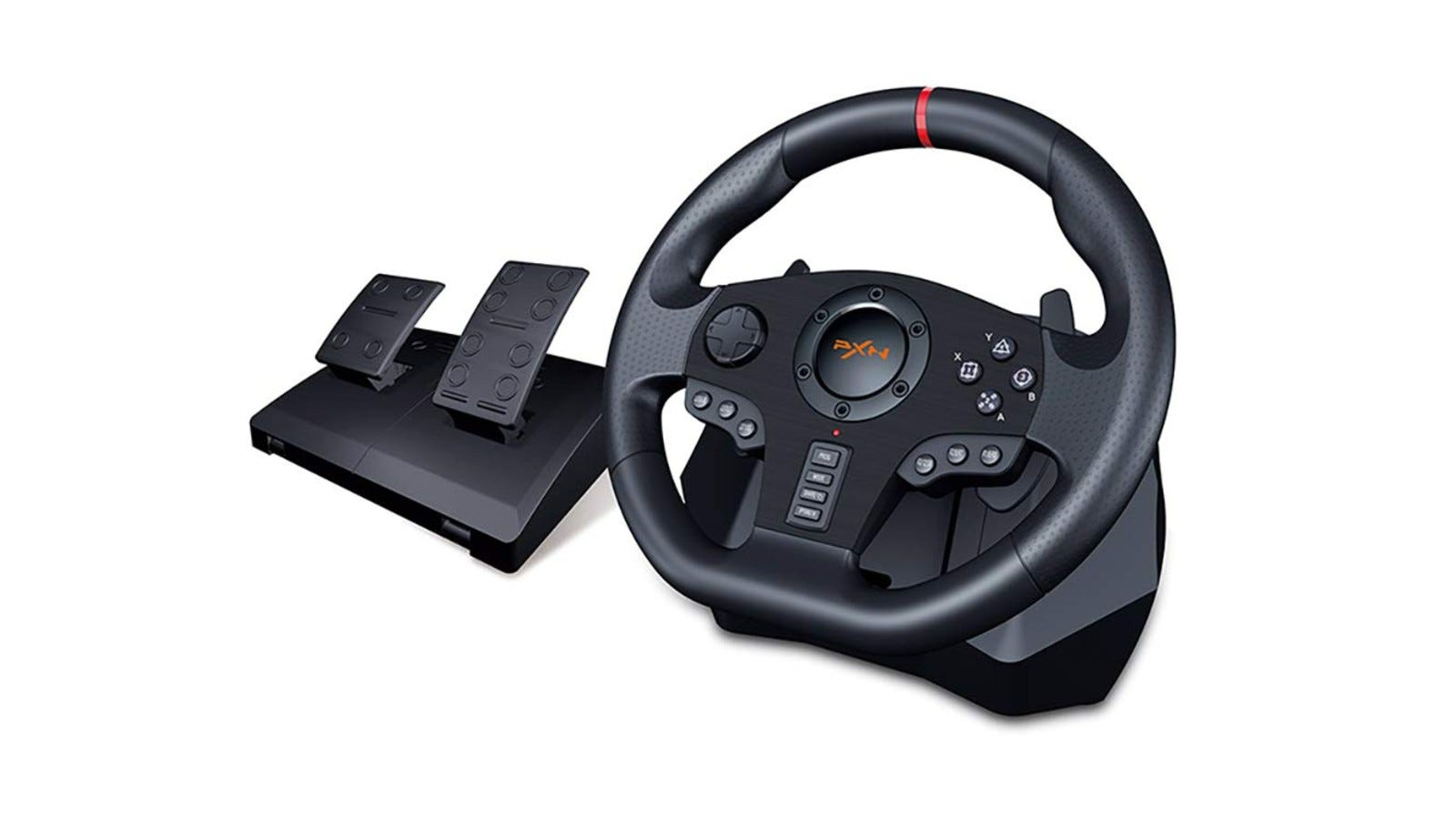This particular racing wheel is compatible with Xbox and PlayStation consoles