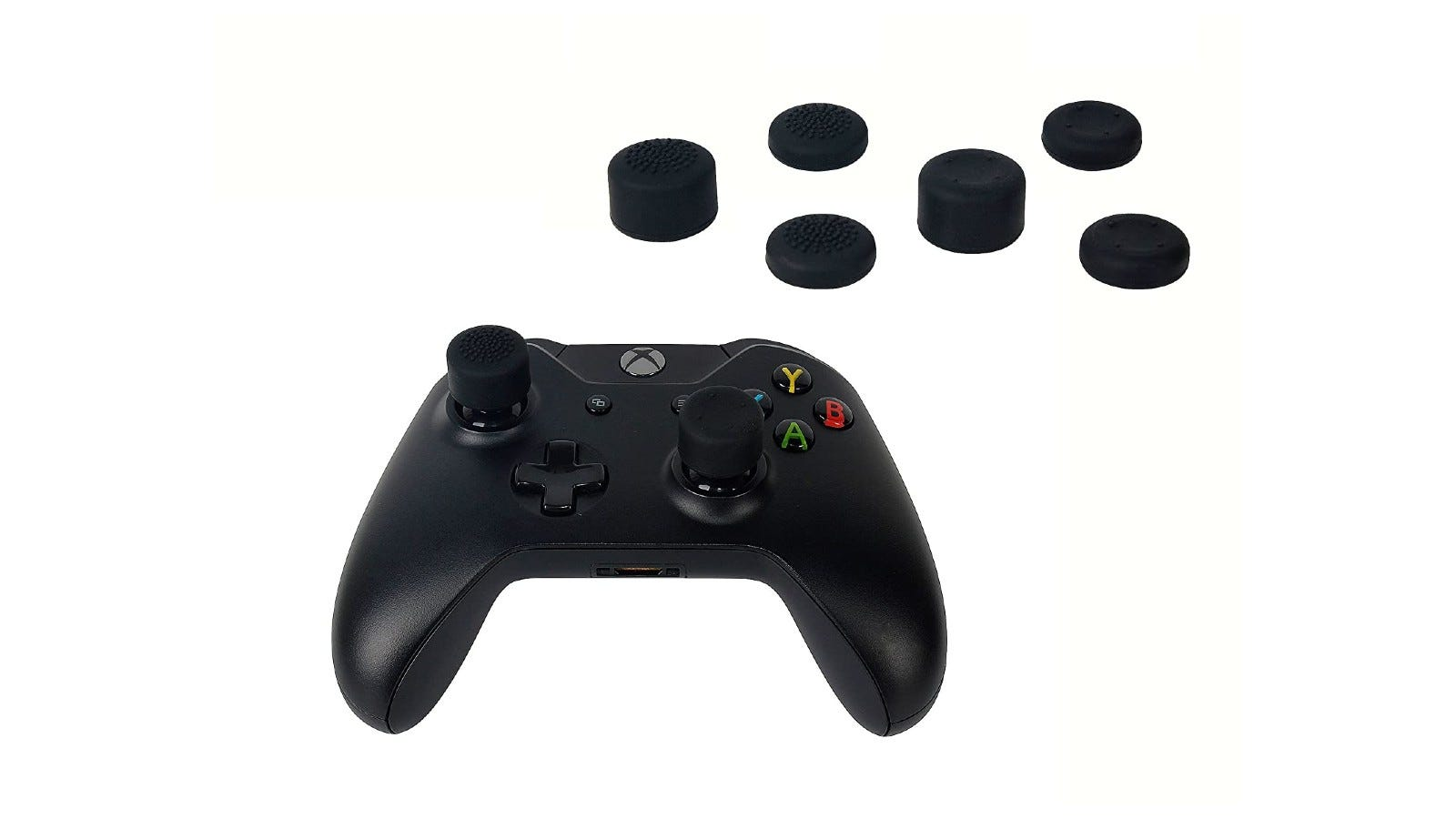 Durable Xbox One thumb grips made of rubberized silicone