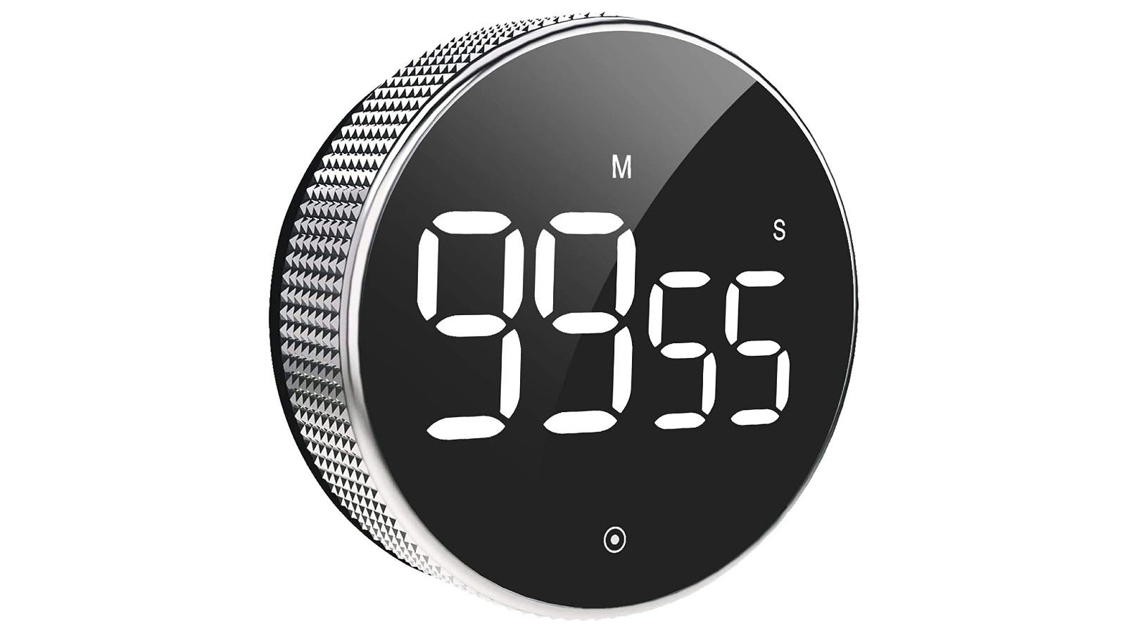 a countdown timer featuring an LED display screen