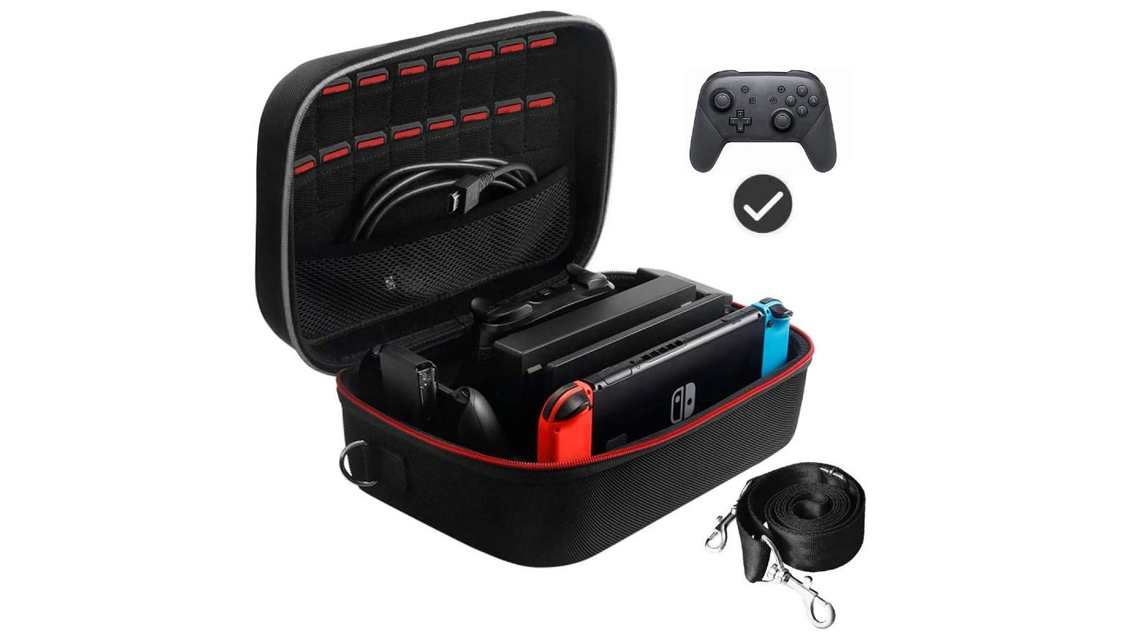 A Nintendo carrying case with plenty of interior space