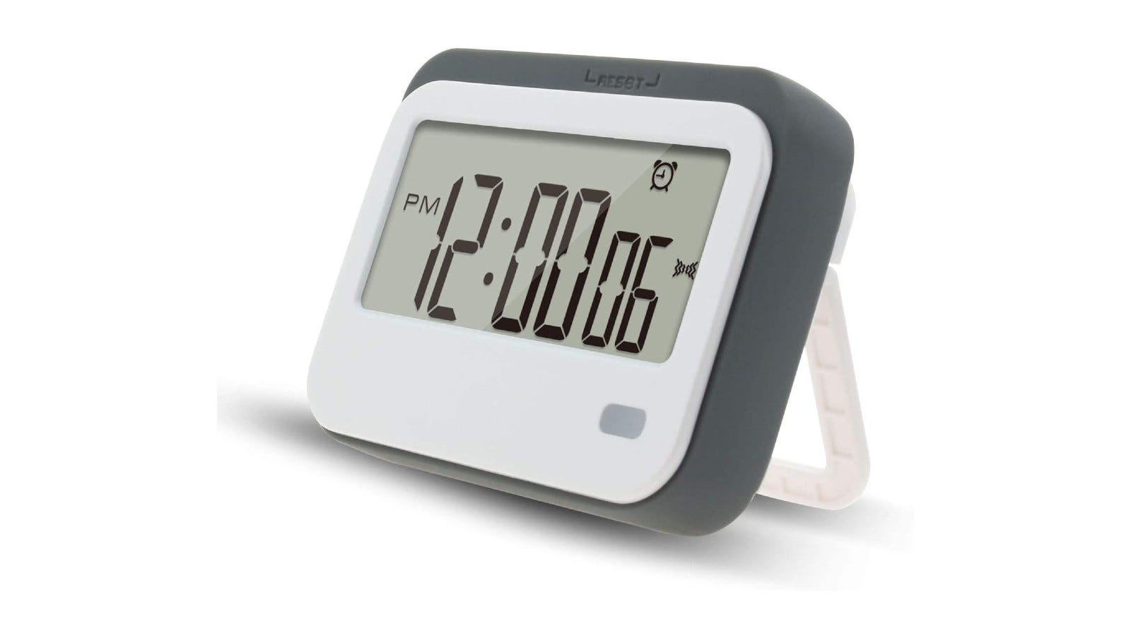 a countdown timer with a plastic silica gel screen