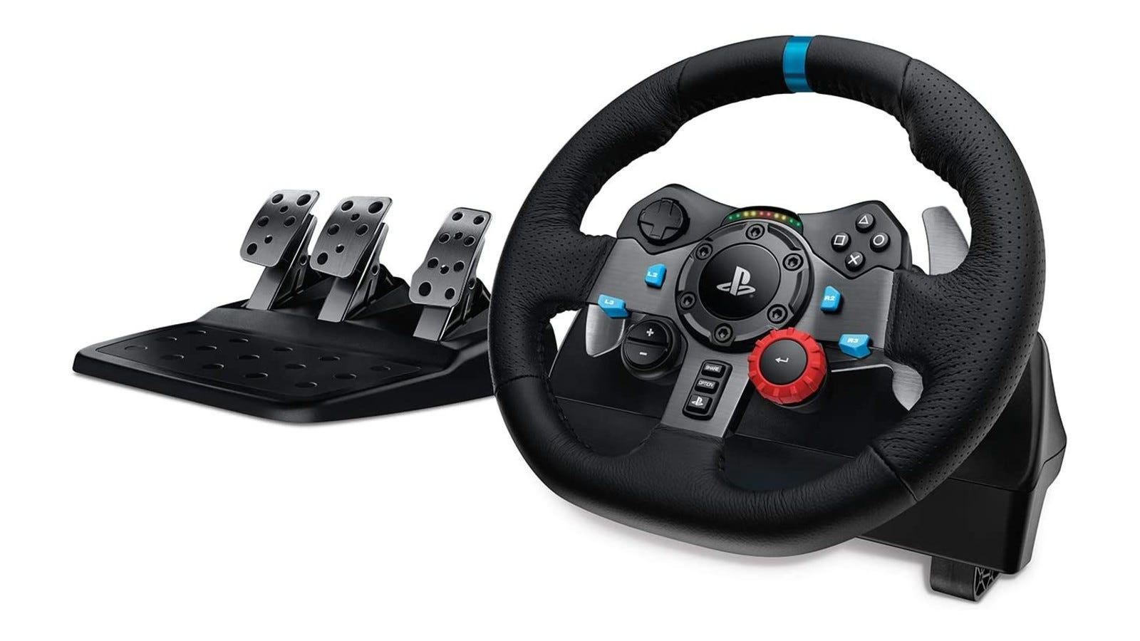 A versatile racing wheel with intuitive controls