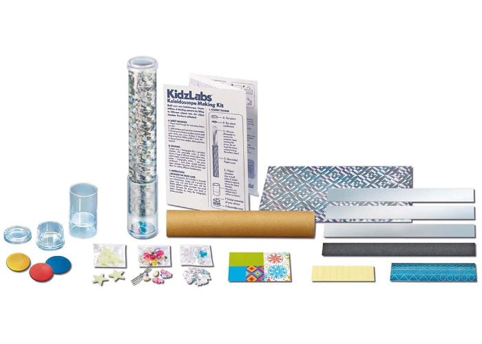 collection of crafts and materials provided in the kit.