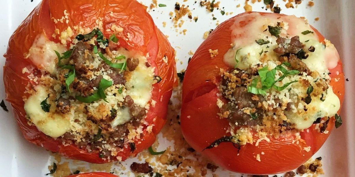 Cheesy Stuffed Tomatoes