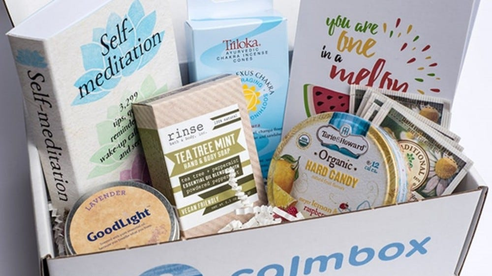 The contents of a calmbox.