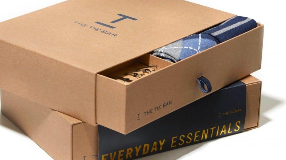 box of ties from TieBar