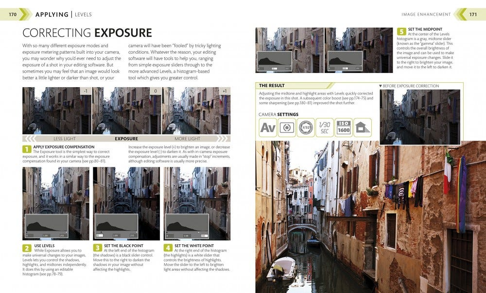 "The ""Correcting Exposure"" instructions from the book ""The Beginner's Photography Guide."""