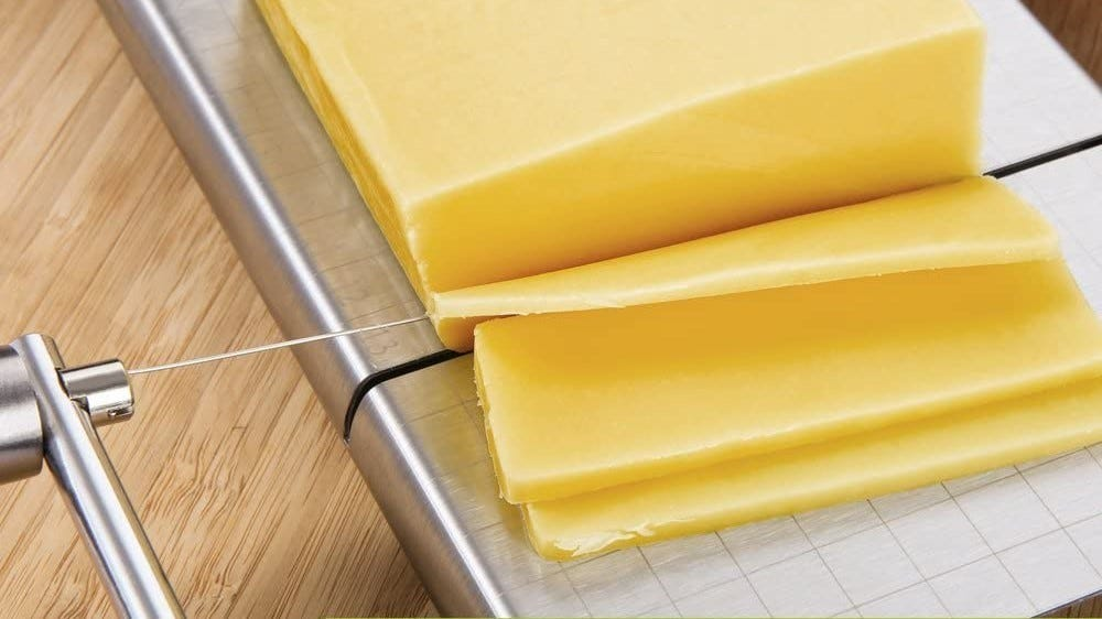 Cheese in a cheese cutter