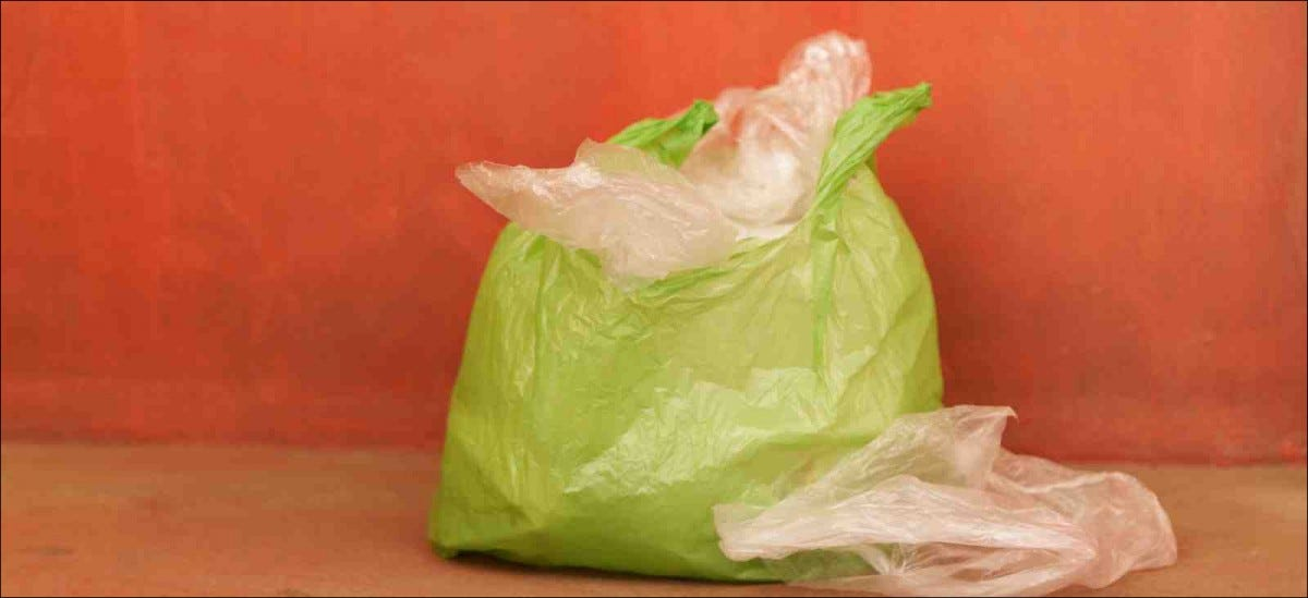 Plastic shopping bag full of other plastic bags