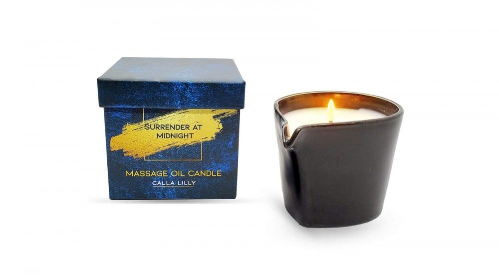 Massage candle with beautiful packaging.