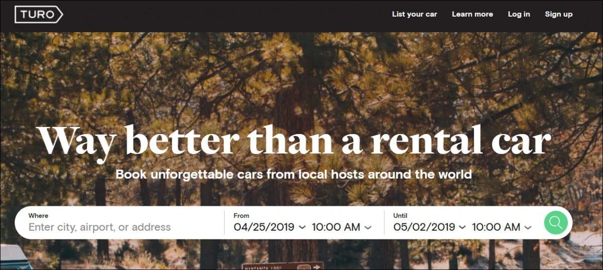 turo home page
