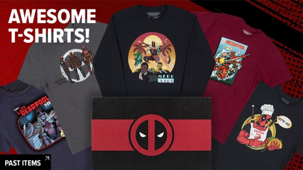 sweatshirts and t-shirts in Deadpool Lootcrate