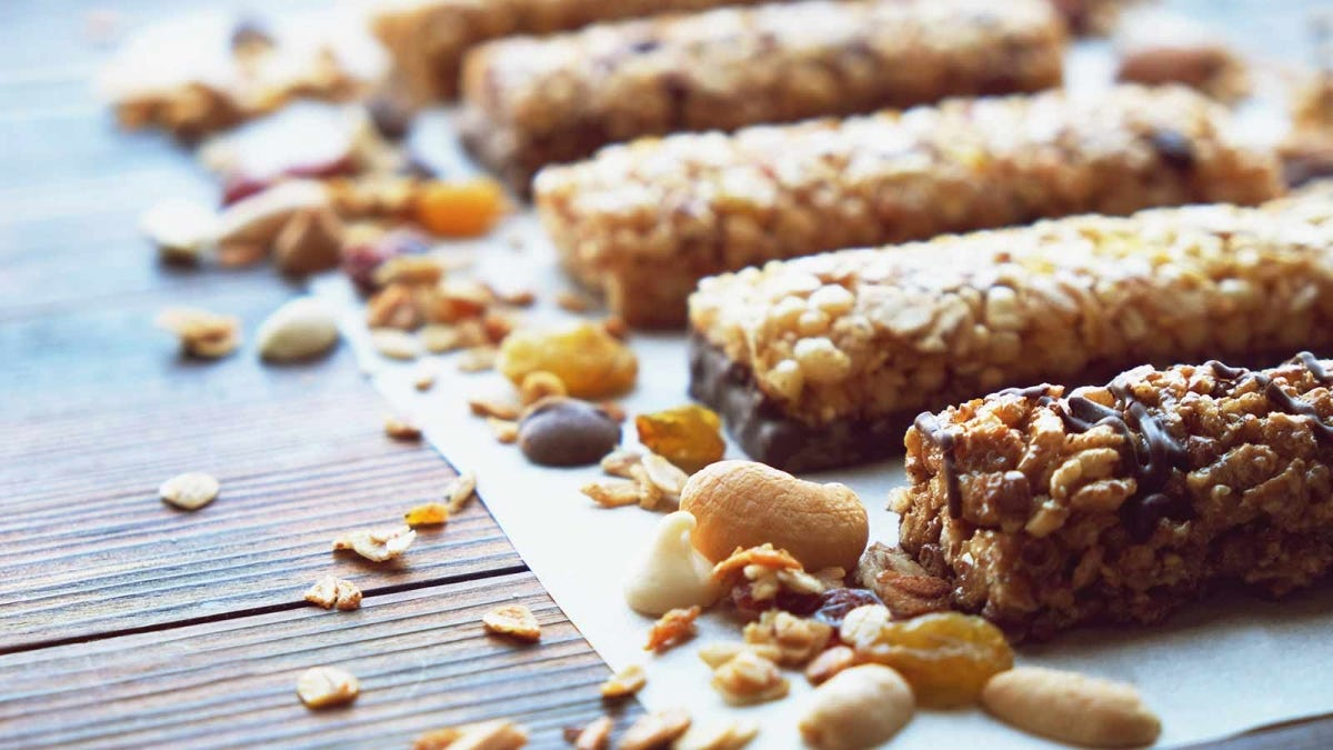 close up photograph of homemade protein bars