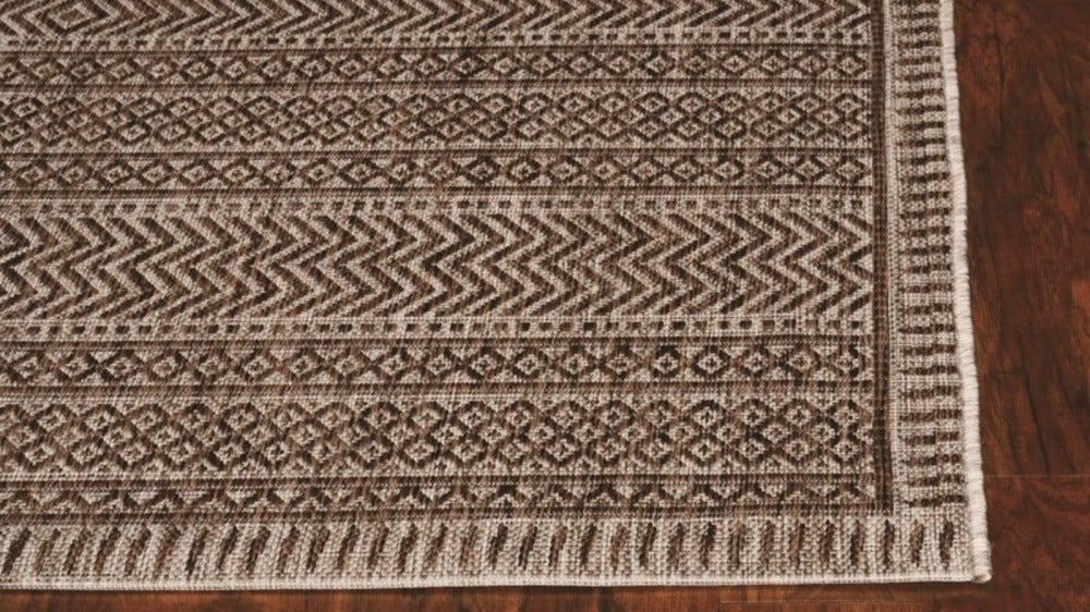 Mateyka Brown Indoor/Outdoor Rug
