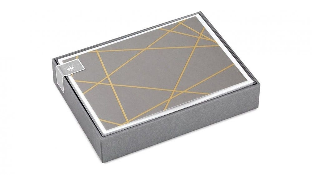 Hallmark Gold Lined Blank Cards in Box