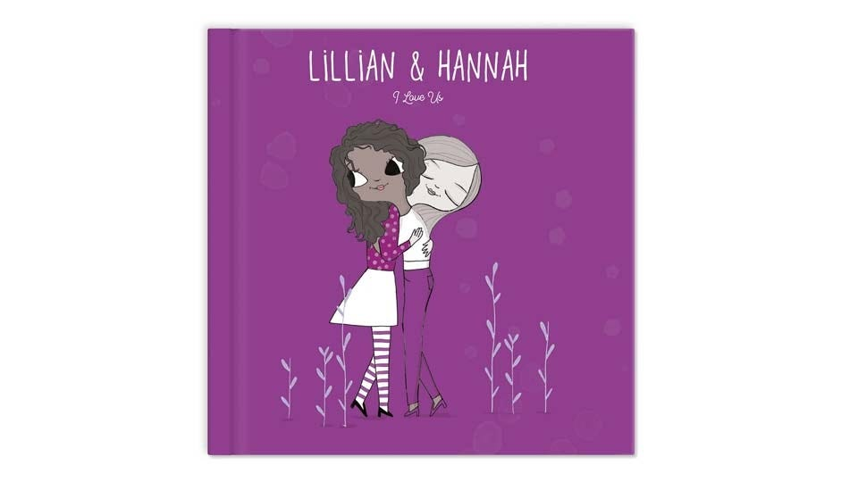 The cover of a custom friendship book.