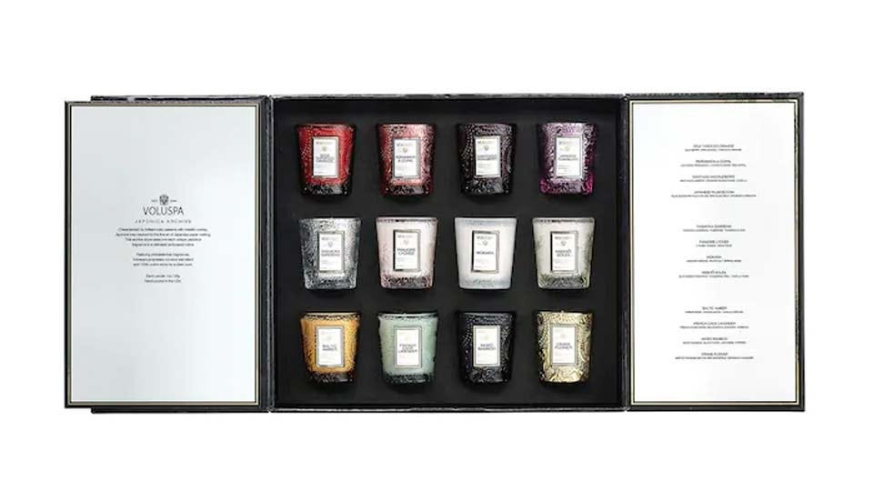 An eye-catching set of 12 candles to celebrate the Advent season with.