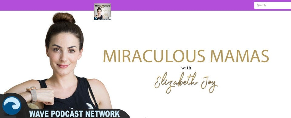 "The ""Miraculous Mamas"" image on the ""Babes and Babies"" website."