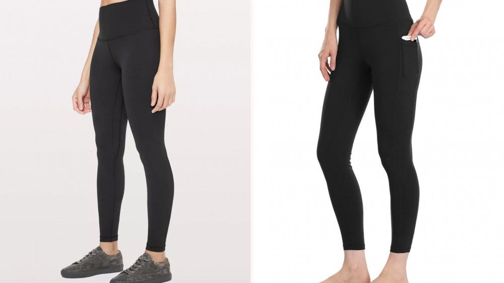 two black leggings next to each other