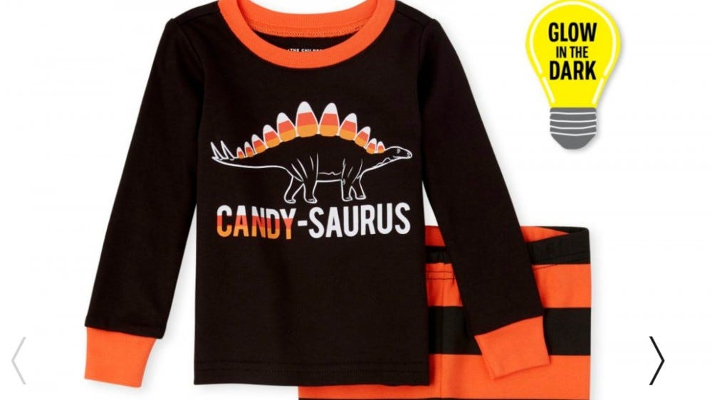 The Children's Place Glow-in-the-Dark Candy-Saurus Pajamas.