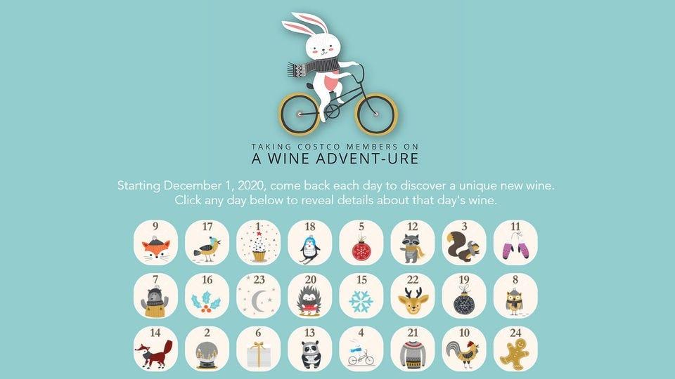 The virtual companion to the Costco wine advent calendar.