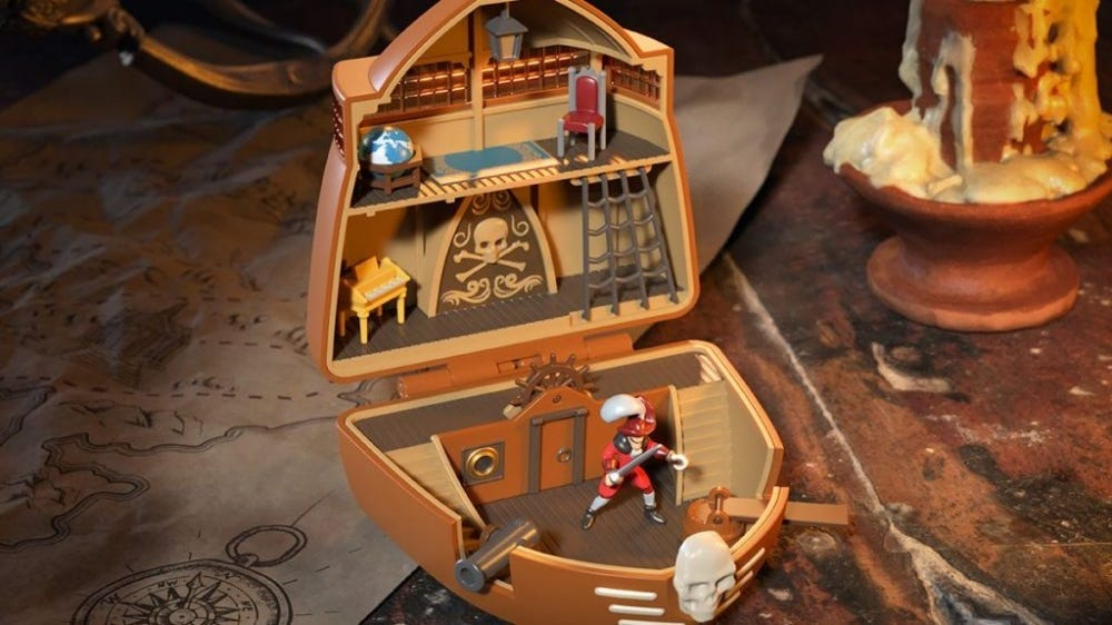 The Toy Zone converted Captain Hook's lair into a Polly Pocket home.