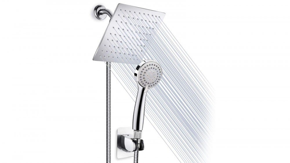 A rainfall showerhead.