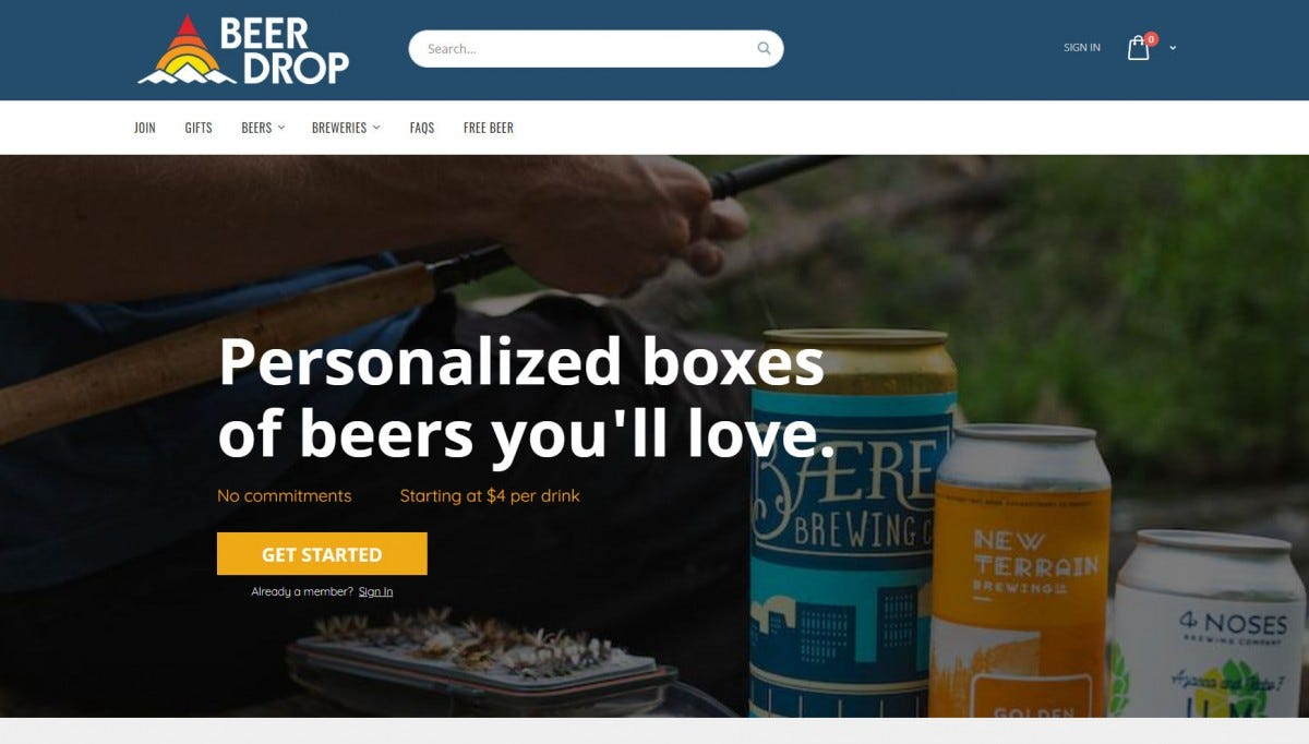 The Beer Drop website.