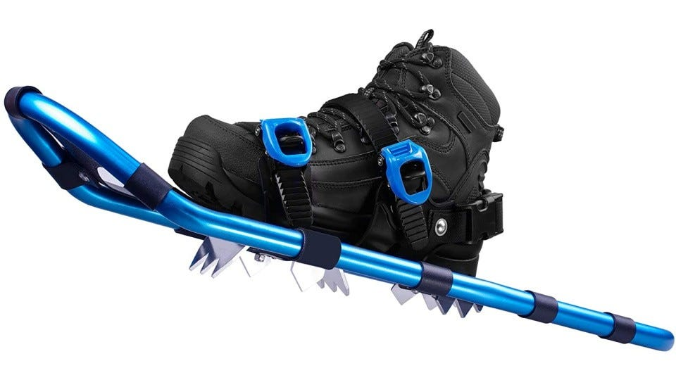 A blue FLASHTEK Snowshoe.