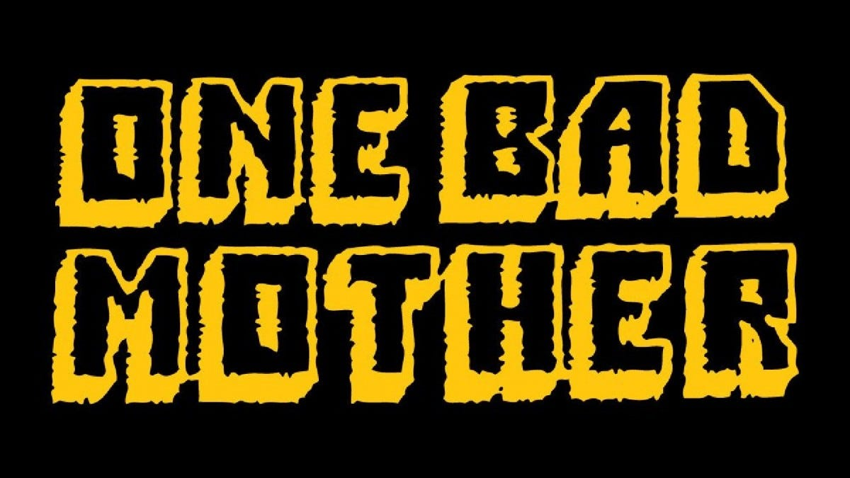 "The ""One Bad Mother"" logo."