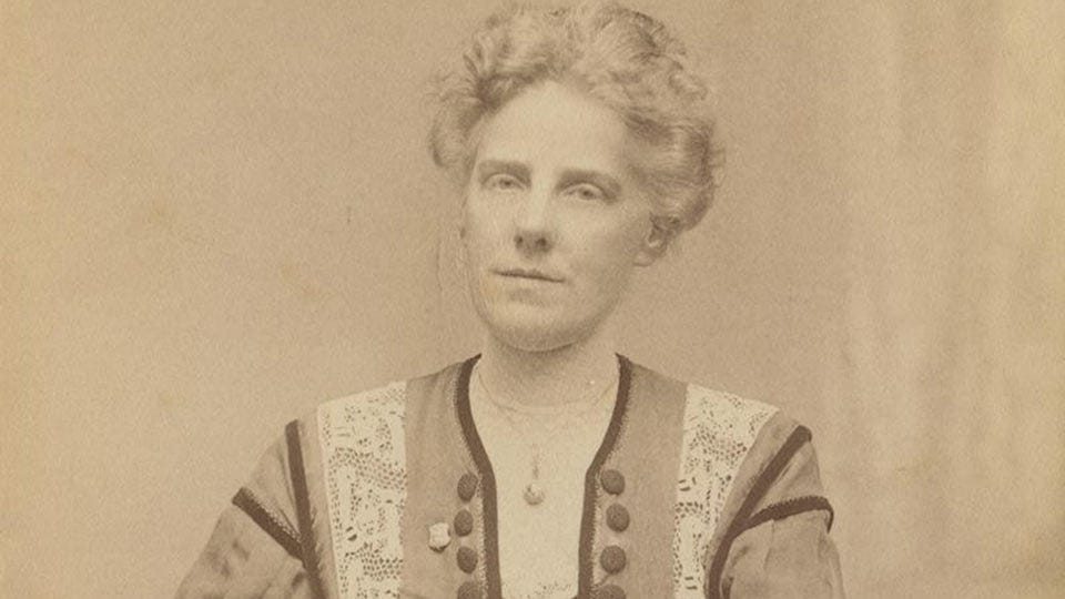 A portrait of Anna Jarvis.