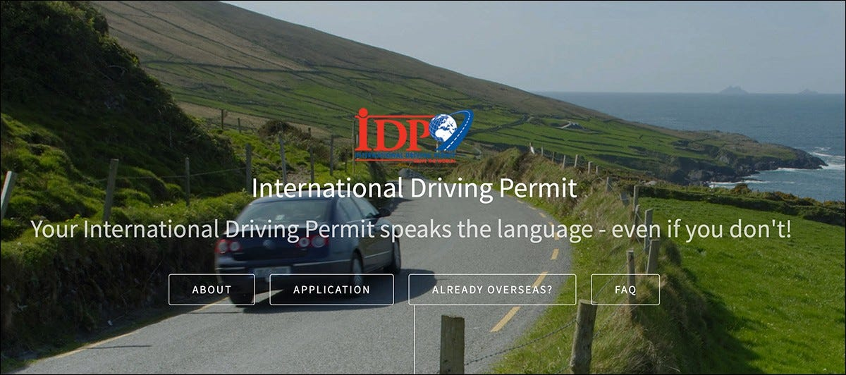 The International Driving Permit (IDP) website.