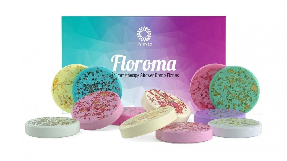variety of colorful shower steamers