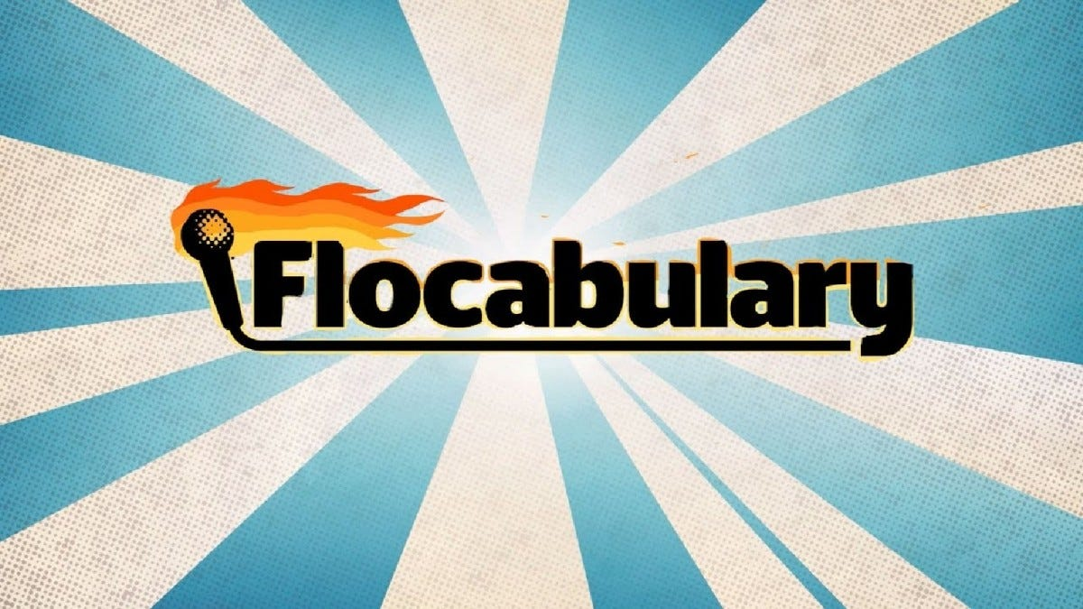 A promotional image for for Flocabulary.