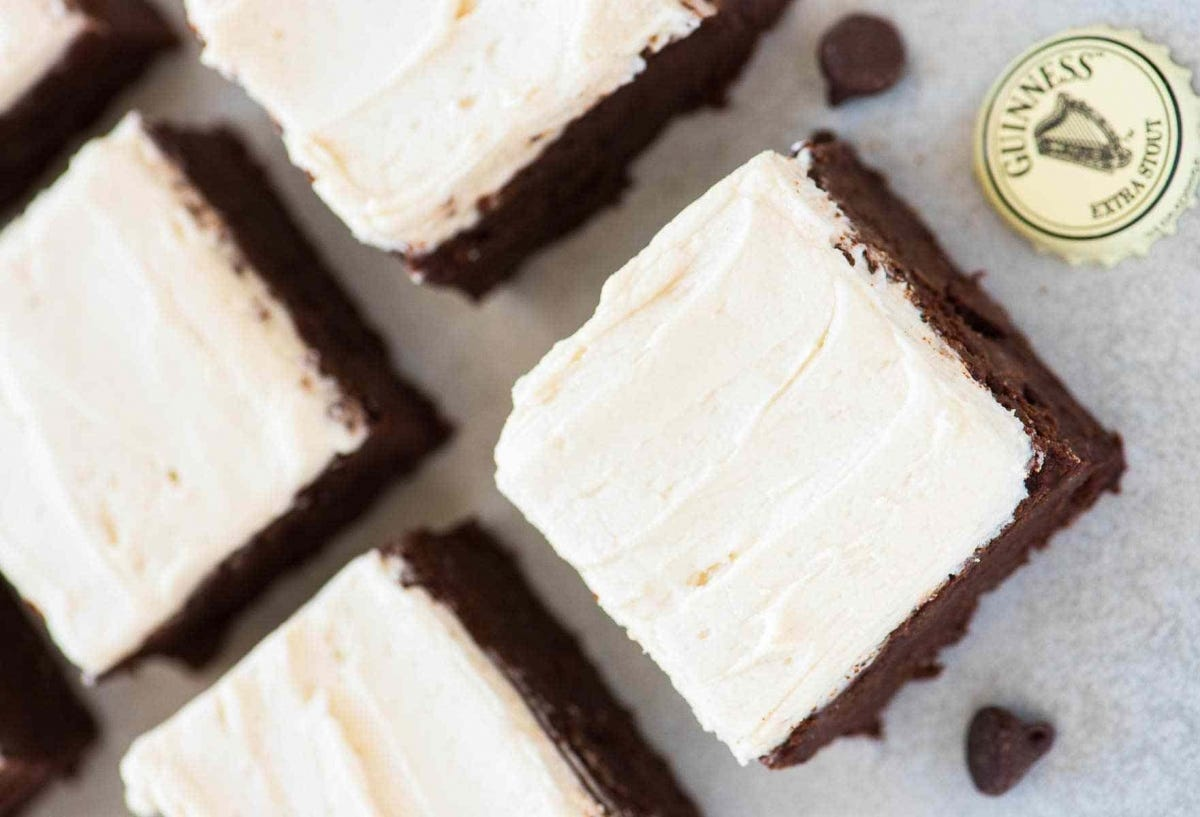 Four Guinness brownies.
