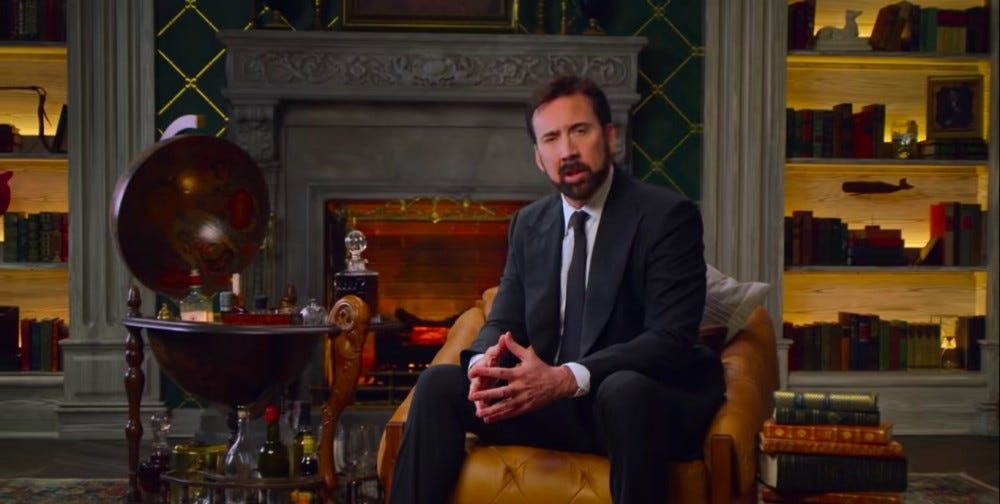 Nicholas Cage hosts a docuseries about swear words for Netflix.
