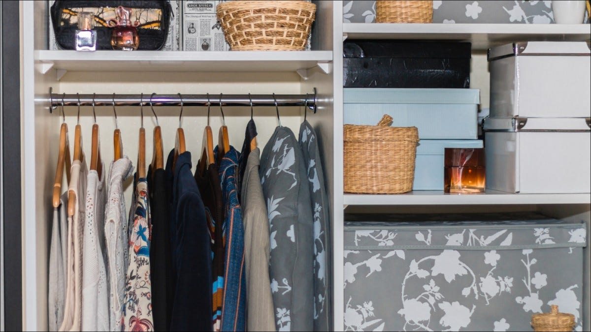 small, well organized closet