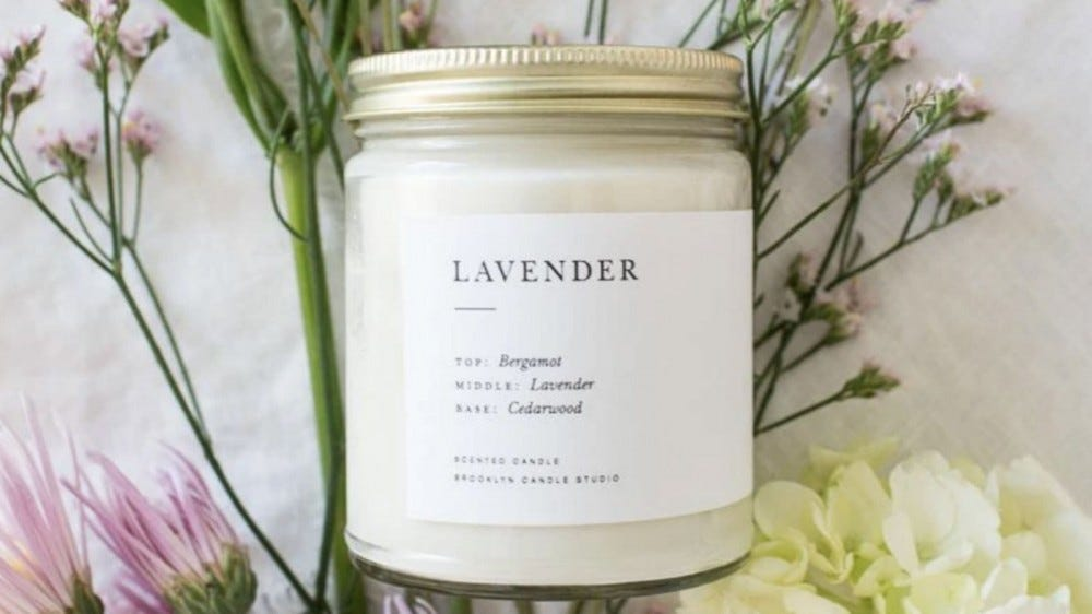 Brooklyn Candle Lavender Minimalist Candle