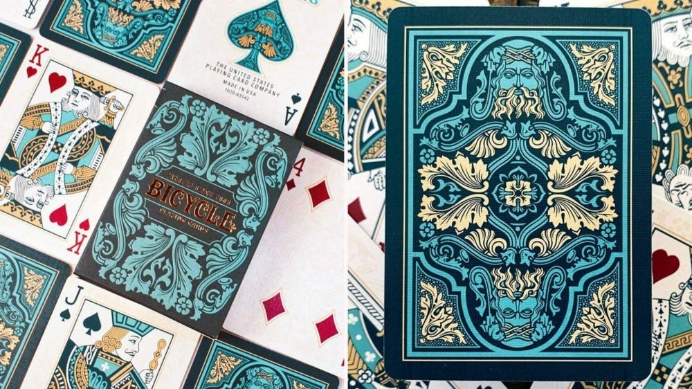 The Sea King deck of playing cards from Bicycle.