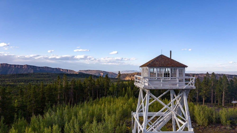 Ute Fire Tower, Ashley National Forest, Utah.