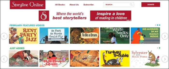 storyline online home page