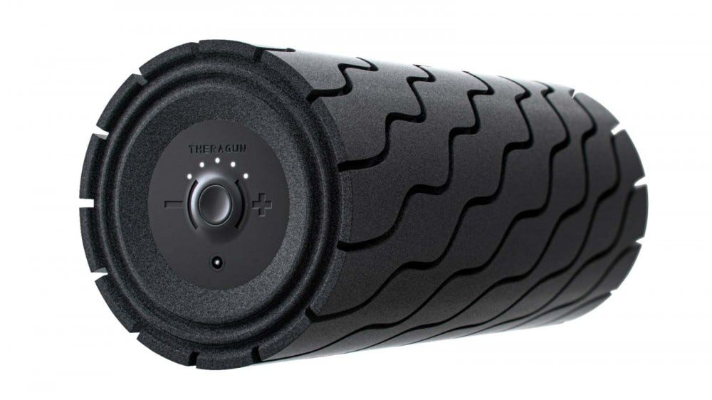 Therabody's deep tissue Theragun Wave roller.